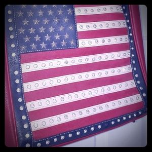 American West Red White and Blue purse